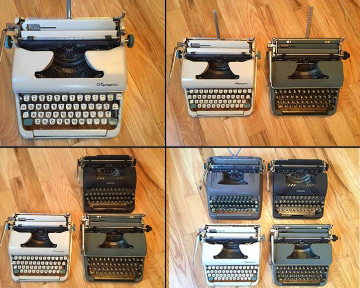 Four Typewriters