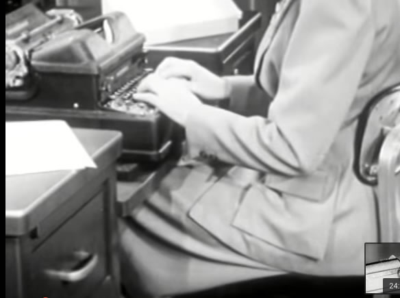 (Source: United States Navy Training Film. MN-1512a. Basic Typing Methods. 1943)